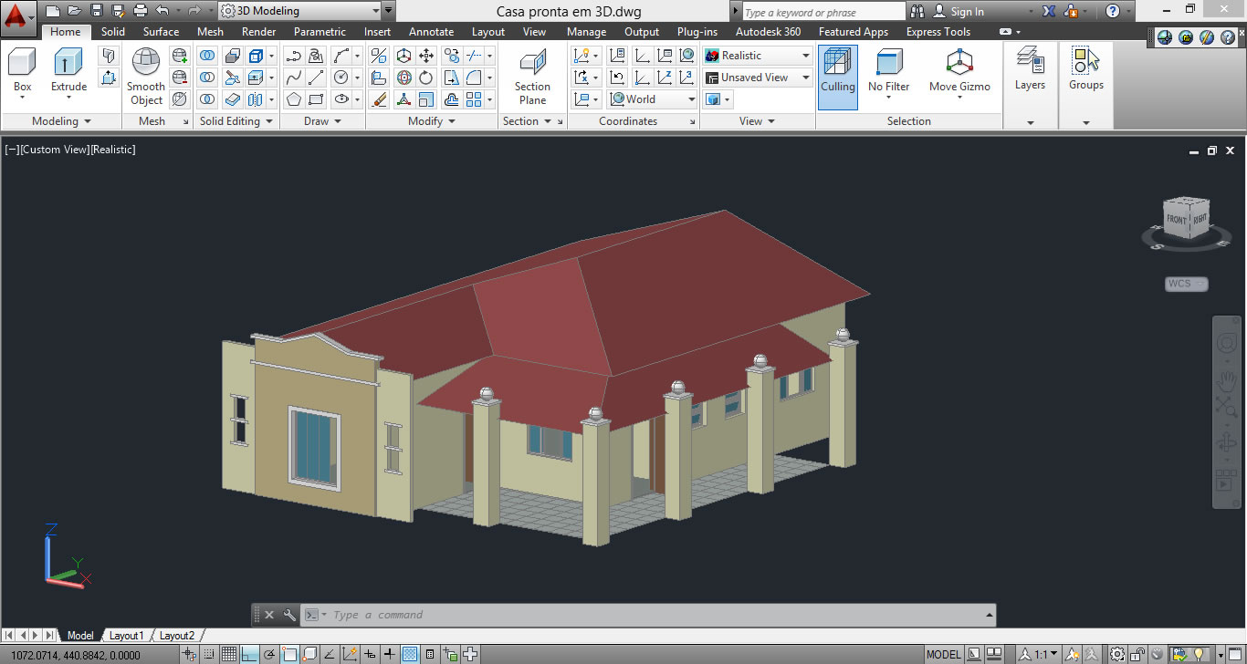 Interface Autocad Software para Arquitetura 3D