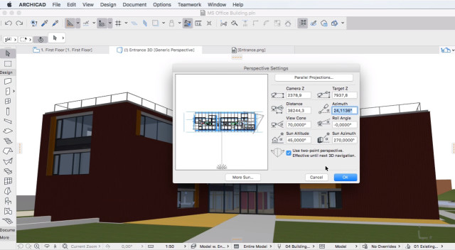 Interface Archicad Software para Arquitetura 3D