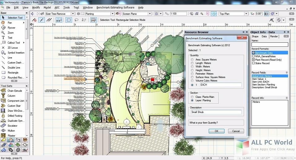 Interface Vectorworks Software para Arquitetura 3D