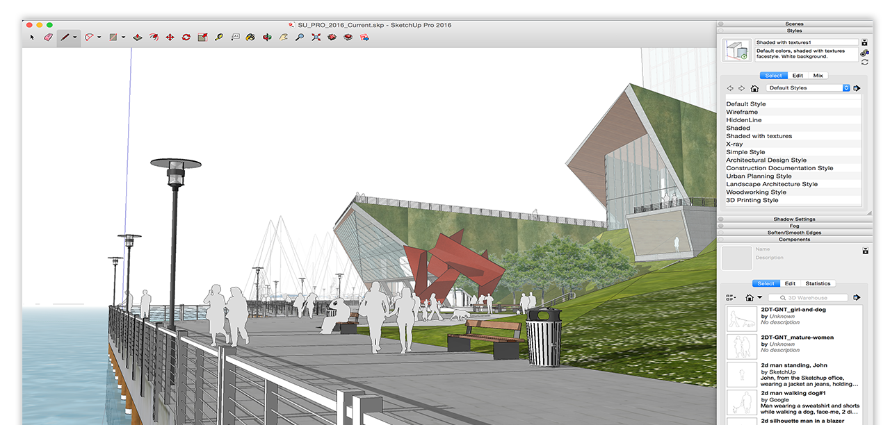Interface Sketchup Arquitetura 3D