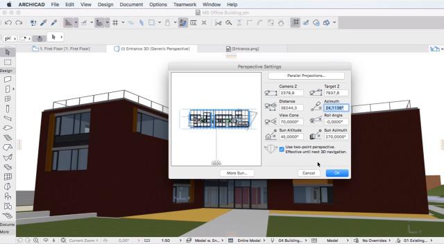 Interface Archicad Software para Arquitetura 3D