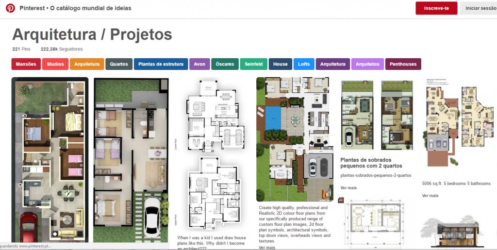 Pintrest de Arquitetura e Projetos