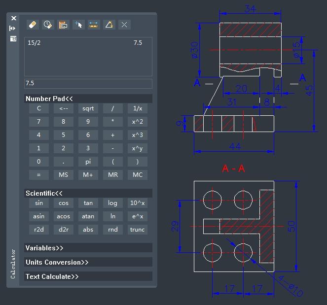 calculadora zwcad