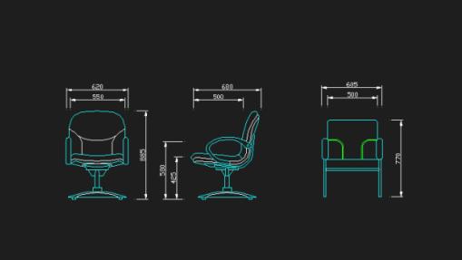 cadeiras desenvolvidas no cad