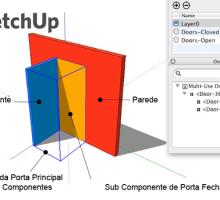 Dicas para Criar Portas no SketchUp com vistas em 3D e 2D