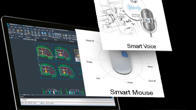 Conheça as inovações Smart Mouse e Smart Voice do ZWCAD