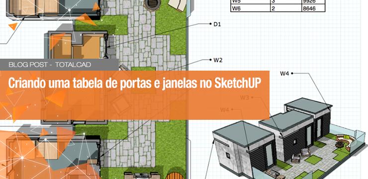 Criando uma tabela de portas e janelas no SketchUp