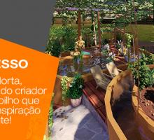Projeto UmaHorta, uma iniciativa do criador Fabiano Crespilho que vai servir de inspiração pra muita gente!