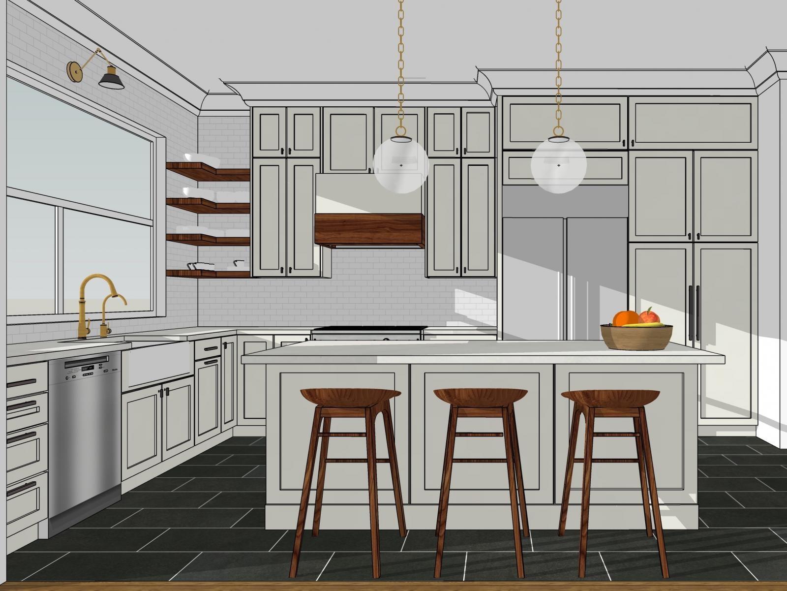 Cozinha Modelada no SketchUp Pro