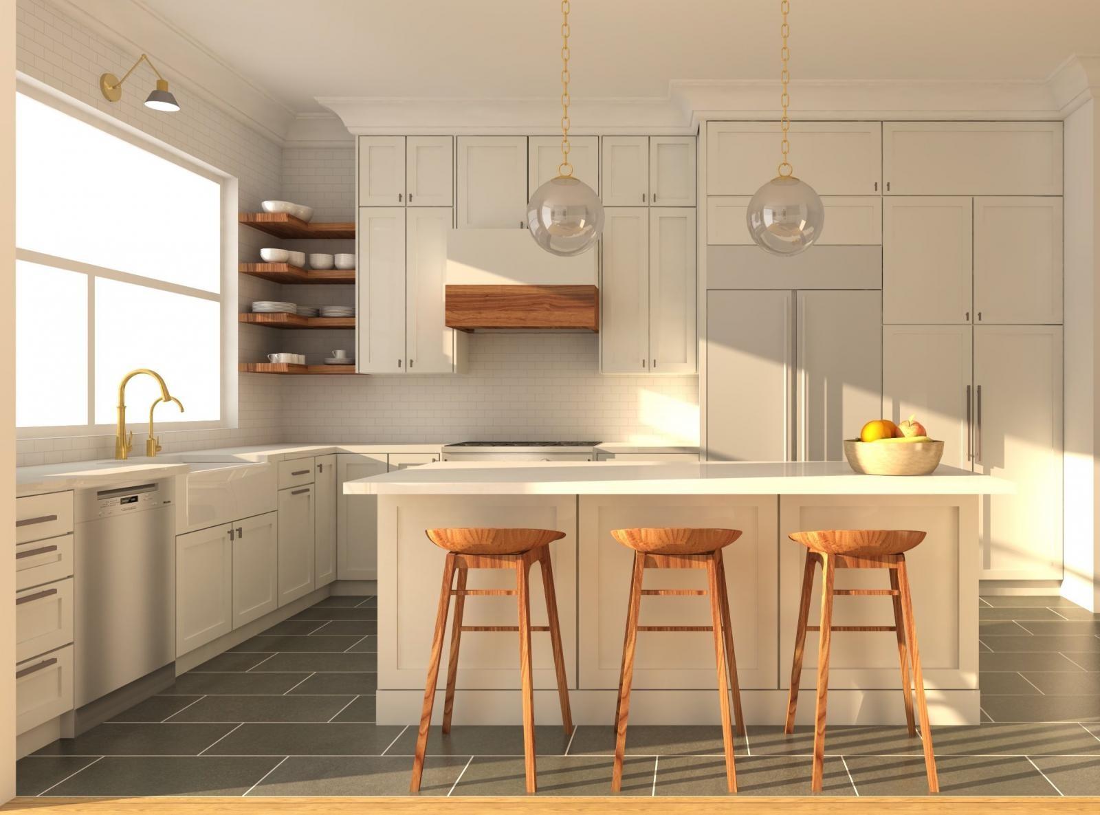 Cozinha Modelada no SketchUp Pro e Renderizada com V-Ray