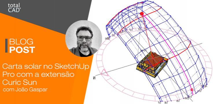 Carta solar no SketchUp Pro com a extensão Curic Sun