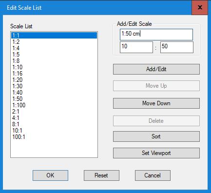 edit scale list